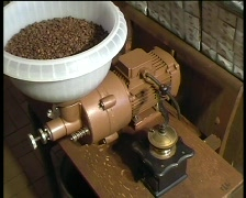 Coffee milling Stock Footage