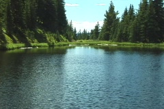 RockyMountainLakeIrene5 NS DV NTSC Stock Footage