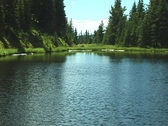 Stock Video Footage of RockyMountainLakeIrene5 NS DV NTSC