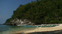 Small tropical beach on the island of Oriental Mindoro in Philippines Stock Footage