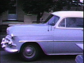 1950's car driving-From 1950's film Stock Footage