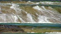 Waterfalls over slick rock HD Stock Footage