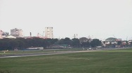 Aircraft taking off (Buenos Aires) Stock Footage