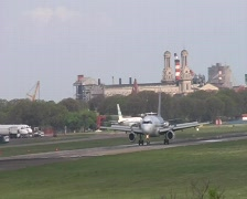 Taxiing aircraft, Buenos Aires Stock Footage
