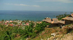 Village of Melgar on the island Mindoro in the Philippines Stock Footage