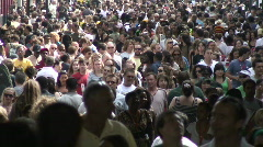 crowd time-lapse - stock footage