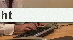 Man typing with Mouse Cursor on screen Stock Footage