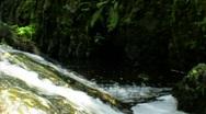 Stock Video Footage of 2 streams of water flowing