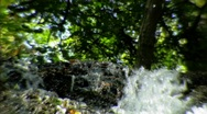 Stock Video Footage of extreme close top of waterfall2