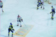 Hockey players fighting Stock Footage