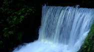 Stock Video Footage of smooth waterfall
