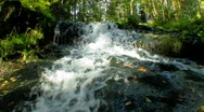 Stock Video Footage of Waterfall into camera