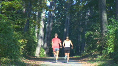 Running up road center part II Stock Footage
