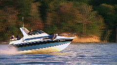 Speedboat on Lake Stock Footage
