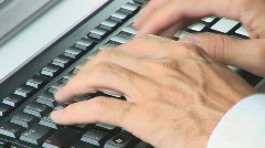 Keyboard close diagonal Stock Footage