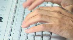 White keyboard close Stock Footage