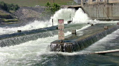 Hydro electric dam outlet HD - stock footage