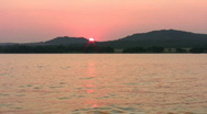 Stock Video Footage of Sunset Medina Lake HD