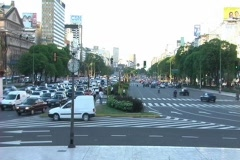 Rush hour Buenos Aires (Time Lapse, NTSC) - stock footage