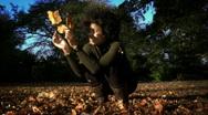 Autumn fun Stock Footage