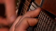 Guitar close up Stock Footage