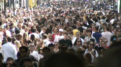 Carnival crowd - stock footage