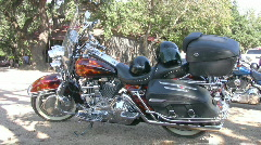 Motorcycle custom paint at Luckenbach TX HD Stock Footage