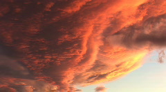 Red and orange cloud drama 1 Stock Footage
