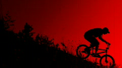 Old film style BMX background Stock Footage
