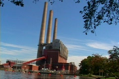 Coal generating electric plant Stock Footage