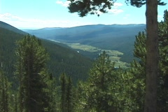 RockyMountainVista1 NS DV NTSC Stock Footage