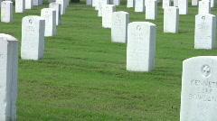 Veterans Cemetery headstones PAN RT HD Stock Footage
