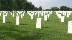 Veterans Cemetery PAN RT HD Stock Footage
