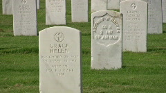 Veterans Cemetery zoom out HD Stock Footage