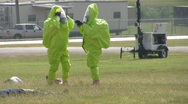 Army chemical warfare suit exercise HD Stock Footage