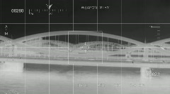 Infrared - Helicopter hit by Missile Stock Footage