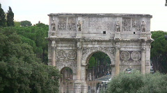 Arch in Rome Stock Footage