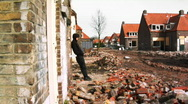 Standing in Destruction Stock Footage