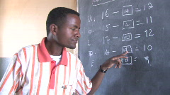 Ethiopia: Teacher and Students - stock footage
