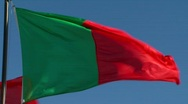 Stock Video Footage of Portuguese flag