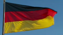 German flag Stock Footage