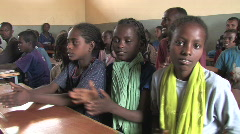 Ethiopia: Students Sing - stock footage