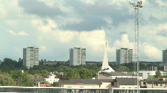 Clouds over the urban area Stock Footage