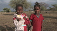 Stock Video Footage of Ethiopia: Girls smile before going in to school.