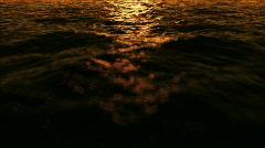 Stock Video Footage of Water fly 2 sundown low