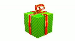 Gift Opening - stock footage