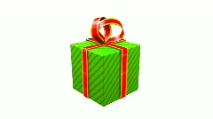 Gift Opening Zoom - stock footage