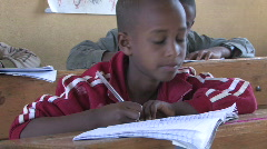 Ethiopia: Boy in class Stock Footage