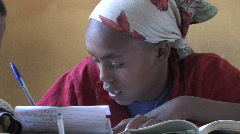 Ethiopia: Girl in School Stock Footage