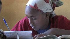 Ethiopia: Girl in School Stock Footage